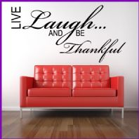 Live Laugh and be Thankful Wall sticker / decals